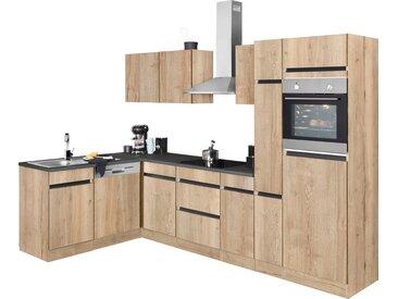 Winkelküche, beige »Roth«, OPTIFIT, Push to open-Funktion