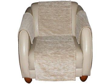 Wirth Sofaüberwurf , beige, Material Stoff / Thermo-Chenille »Miriam«, Meliert, strapazierfähig