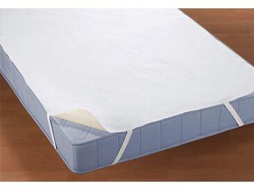 Matratzen Auflage , weiß, Material Baumwolle / Polyethylen »Molton, 2-lagig mit Silberausrüstung«, BIBERNA