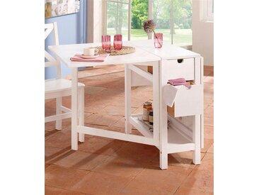 Home affaire  Klapp-Tisch , FSC®-zertifiziert, weiß, Material Massivholz »Lily«