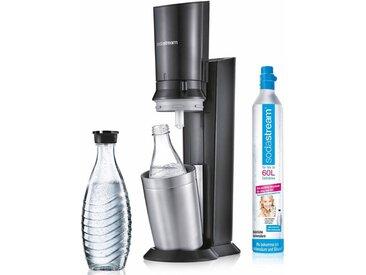 SodaStream Wassersprudler »Crystal 2.0«, (Set, 1 Wassersprudler, 1 Glaskaraffe, 1 Zylinder)