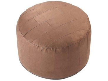 Home affaire  Pouf, braun, Material Polyester