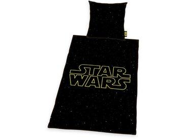 Bettgarnitur  »Star Wars«, 1x 155x220 cm, schwarz, Material Baumwolle, STAR WARS, bedruckt, Motiv