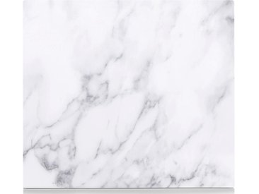 Herdblende-/Abdeck-Platte  »Marmor«, weiß, Zeller Present