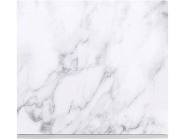 Herdblende-/Abdeck-Platte , weiß, »Marmor«, Zeller Present