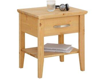 Home affaire  Nacht-Schrank , FSC®-zertifiziert, beige, Material Massivholz »Violeta«, Soft-Close-Funktion