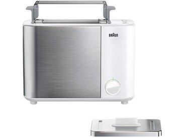 Toaster, weiß, Braun