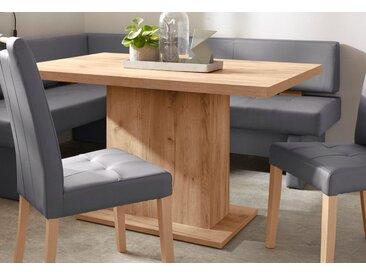 Säulenesstisch, 136x77.5x90 cm (BxHxT), FSC®-zertifiziert, Yourhome, beige, Material Holzwerkstoff
