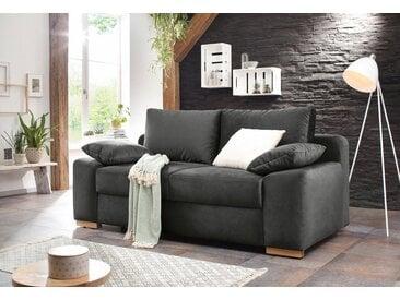 Home affaire  Schlaf-Sofa  »Campine de luxe«, 2-Sitzer, mit Bettfunktion, Landhaus-Stil, braun, mit Schlaffunktion, mit Topper