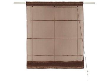 my home Bändchenrollo  »Xana«, H/B: 155/45 cm, braun, Material Stoff / Voile, unifarben