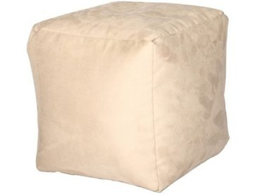 Home affaire Pouf, weiß, Material Polyester / Stoff, Motiv