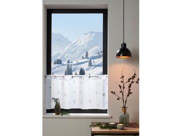 my home Scheiben-Gardine , weiß, »Stern«