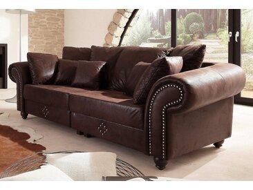 Home affaire Big-Sofa »King George«, mit Federkern, FSC®-zertifiziert, braun, 242 cm, ab 60 cm, 45 cm