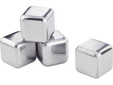 Eiswürfelform  »Edelstahl-Eiswürfel«, 4er Set, silber, Contento