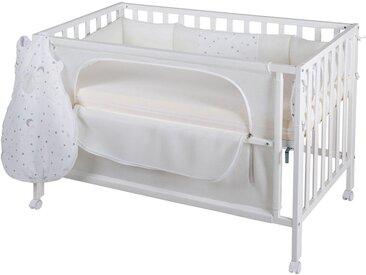 Baby-Bett , weiß »Room Bed, safe asleep®, Sternenzauber weiß«, roba®»Room Bed, safe asleep®, Sternenzauber weiß«
