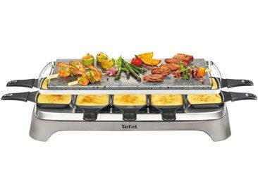 Tefal Raclette-Grill Pierrade PR457B, 10 Raclettepfännchen, 1350 W, Grill-Platte aus Stein