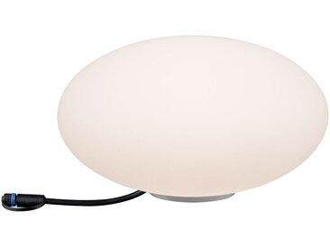 Kugelleuchte, weiß »Outdoor Plug & Shine Lichtobjekt Stone«, Paulmann