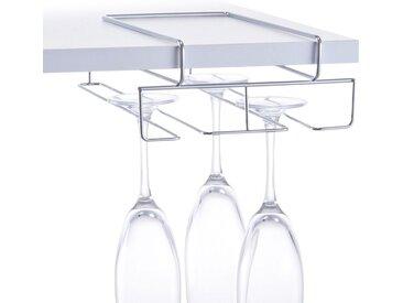 Einhängekorb »Gläser«, silber, Material Metall, Zeller Present