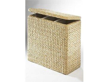 Wäschesortierer, 66x64x32 cm (BxHxT), Landhaus-Stil, Home affaire, Material Textilfutter, Baumwolle