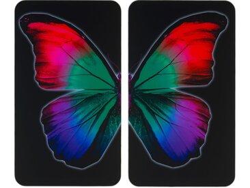 Herdabdeckplatte , schwarz »Universal Butterfly by Night«, WENKO
