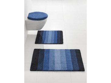 Badezimmer-Garnitur PALACE, blau, Material Polyacryl, Kleine Wolke