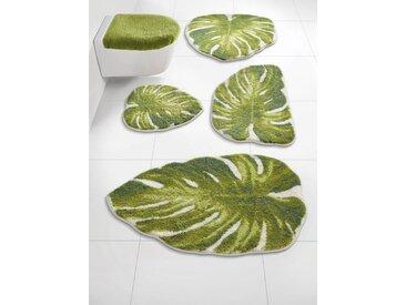 Badezimmer-Garnitur in besonderer Form, grün, Material Polyacryl, Grund