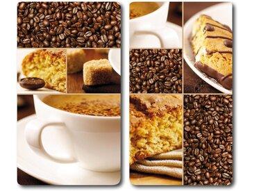 Schneide- und Abdeck-Platte  »Kaffee«, mehrfarbig, KESPER for kitchen & home