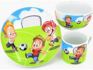 Kindergeschirr-Set »Fußball«, mehrfarbig, Material Porzellan, Retsch Arzberg, Motiv, spülmaschinengeeignet