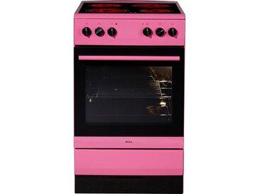 Amica Elektro-Standherd, Energieeffizienzklasse A, rosa