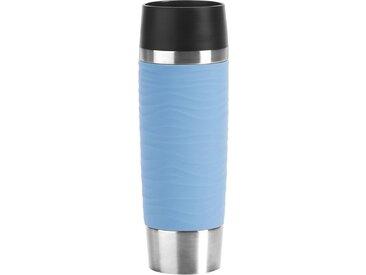 Thermo-Becher  »Travel Mug Waves Grande«, blau, Material Edelstahl, Emsa