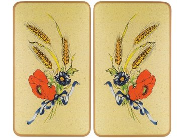 Herd-Abdeckplatte, beige »Kornblumen«, WENKO