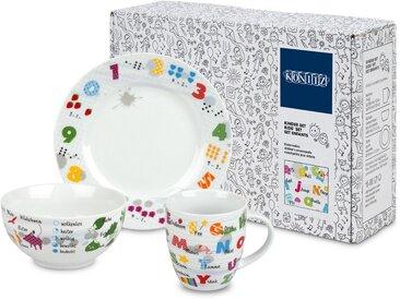 Kindergeschirr-Set »Kinderlexikon«, mehrfarbig, Material Porzellan, Könitz, Motiv, spülmaschinengeeignet