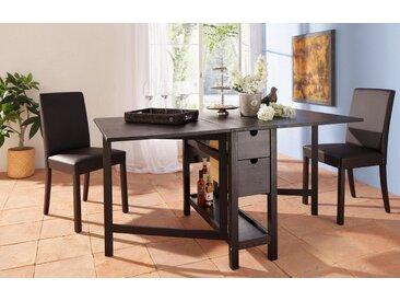 Home affaire  Klapp-Tisch , FSC®-zertifiziert, braun, Material Massivholz »Lily«