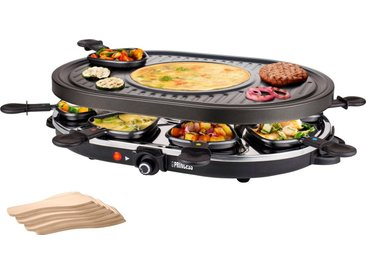 PRINCESS Raclette-Grill 8 Oval Grill Party - 162700, 8 Raclettepfännchen, 1200 W