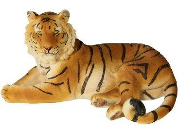Tierfigur »Tiger liegend«, Landhaus-Stil, Casa Collection by Jänig, Material Polyresin, Kunststein