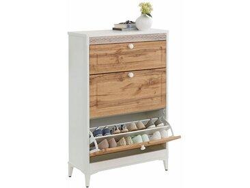 Home affaire Schuhkommode »Lacie«, 80x32x118 cm, FSC®-zertifiziert, beige