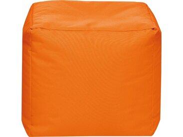 Sitz-Sack  »Cube SCUBA«, orange, Material Polystyrol / Polyester, Sitting Point