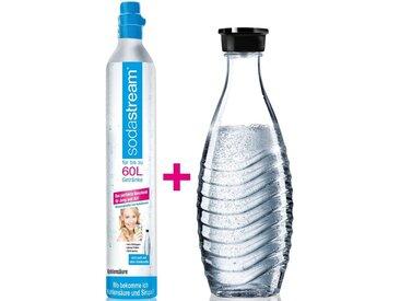 SodaStream Wassersprudler, (Set, 2-tlg), Reservepack mit 1x CO2-Zylinder und 1x 0,6 L Glaskaraffe