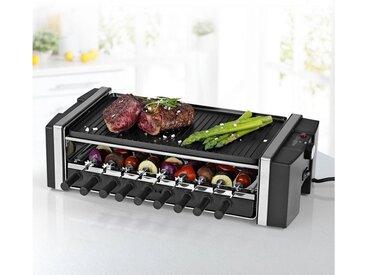 MAXXMEE Raclette-Grill Multi-Raclette-Grill 3in1, 6 Raclettepfännchen, 1200 W