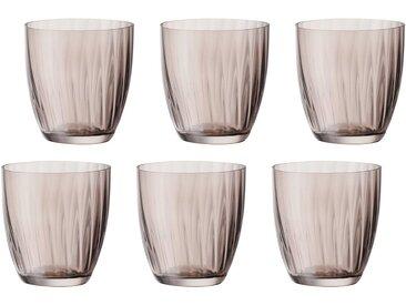 Gläser-Set  , Landhaus-Stil, braun, Material Glas »Georgia«, BOHEMIA SELECTION, unifarben