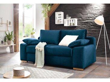 Home affaire  Schlaf-Sofa  »Campine de luxe«, 2-Sitzer, mit Bettfunktion, Landhaus-Stil, blau, mit Schlaffunktion, mit Topper
