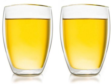 Creano Gläser-Set (2-tlg), Borosilikatglas, doppelwandig