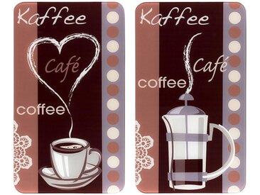 Herdabdeckplatte , mehrfarbig »Kaffeeduft«, WENKO