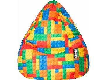 Sitz-Sack  »Bricks Cat XL«, mehrfarbig, Material Polystyrol / Polyester, Sitting Point