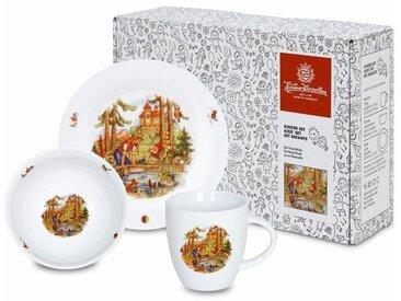 Kindergeschirr-Set »Froschkönig«, mehrfarbig, Material Porzellan, Könitz, Motiv, spülmaschinengeeignet