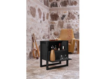 Barschrank »New Est«, 59x60x30 cm (BxHxT), FSC®-zertifiziert, Woodman, schwarz, Material Eiche, Holzwerkstoff, Massivholz, MDF,  lackiert