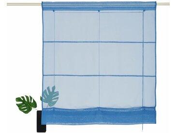 my home Bändchenrollo  »Xana«, H/B: 155/120 cm, blau, Material Stoff / Voile, unifarben