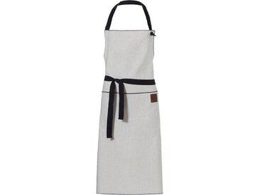 Kochschürze , grau, Öko-Tex-Zertifikat, »Maker black«, , , DDDDD
