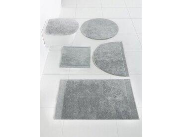 Badezimmer-Garnitur aus Baumwolle, grau, heine home