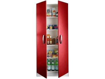 Mehrzweckschrank »Amrum«, 80x180x35 cm (BxHxT), wiho Küchen, rot, Material Holzwerkstoff, Metall